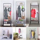 Entryway Coat Rack Hat Stand Hallway Shoe And Bench&Shelves Storage Organiser US