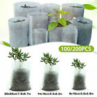 100pcs Biodegradable Non-woven Nursery Bags Plant Grow Seedling Planting Pots US