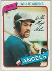 1980 Topps Baseball Cards (1-399) Pick The Cards to Complete Your SetBaseball Cards - 213