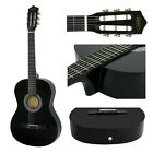 """38"""" Wooden Beginners Acoustic Guitar With Guitar Case Strap Tuner and Pick"""