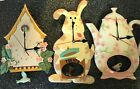 Pendulum Wall Clock Teapot w/ Teacup ~Dog w/Bone ~Birdhouse w/Bird 3 styles