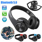 Foldable Wireless Bluetooth 5.0 Mic Headphones Stereo Surround Earphones Headset