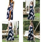 Ii Inin Women'S Deep V-Neck Casual Dress Summer Backless Floral Print/Solid Spli