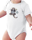 Infant creeper bodysuit One Piece t-shirt Hang In There Baby Cat Kitten k-716