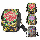 Retro Embroider Messenger Crossbody Purse Latest Lady Cell Phone Shoulder Wallet