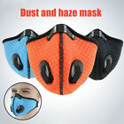 Reusable Outdoor Sports Cycling Face Mask Dust Proof Mouth Cover With Air Valves
