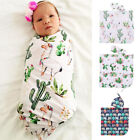 Alpaca Cactus Printed Sleeping Swaddle Muslin Wrap Baby Swaddle Blanket Sets