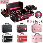 Aluminum Alloy Makeup Jewelry Organizer Storage Manicure Box Cosmetic Suitcase