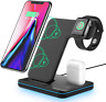 Wireless Charging Station, 3 in 1 Qi Charger for Apple Watch 1 2 3 4 5, Wireless