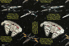 Star Wars Fabric - Millennium Falcon, X-Wing Fighters & Rebel Fighters