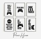 Gaming Prints for Kids Bedroom Picture Wall 💜Offer 3 for 2 PlayStation Xbox  💜