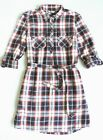 Tommy Hilfiger Women's Long Sleeve Plaid Shirtdress Size: L