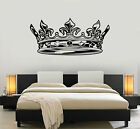 Vinyl Wall Decal Crown King Sign Above Bed Bedroom Interior Stickers (g2891)