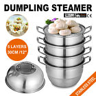 5 Layer Food Dumpling Steamer 28/30cm Soup Drawers Scraper Kitchen Dishes