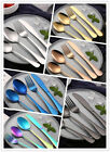 4 Pcs/Set Colorful Iridescent Fork Spoon Stainless Cutlery Set for Dining UK