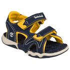 Kids Timberland Adventure Seeker Two-Strap Sandal - Navy/Yellow, Toddler's Sizes