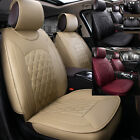 Universal 5-seats Car Seat Cover Front & Rear Chair Cushion Durable Full Set KPA $79.98 USD on eBay