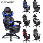 Executive Massage Racing Gaming Chair Swivel Office Desk Recliner With Footrest
