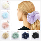 Women Organza Hair Ring Chiffon Scrunchie Elastic Rubber Band Hair Ties Colorful