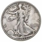 Solid XF - Original - 1935-S Walking Liberty Silver Half Dollar - Better *804