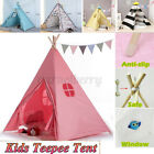 Cotton Canvas Kid Teepee Boy Girl Large Tent Indoor Garden Indian Wigwam Gifts