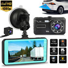 """4"""" 1080P Dual Lens Touch Screen Car DVR Dash Cam Recorder Front and Rear Camera"""