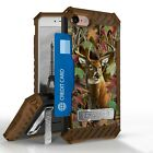 """Buck Camo Shockproof Hybrid Case+Tempered Glass Cover for iPhone Model (4.7"""")"""
