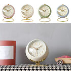 Silent Analog Alarm Clock Table Alarm Clock Non-ticking with Night Light