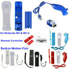 For Nintendo Wii & Wii U Remote Controller Built-in Motion Plus + Nunchuck+Case