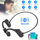 Mini Wireless Bluetooth Bone Conduction Headset Stereo Headphone Earphone Sport