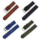 New Men Military 18-24mm Leather&Nylon Wrist Strap Watch Band image