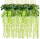 6/12/24 Artificial Wisteria Flowers Vine Silk Wedding Party Garden Hanging Decor