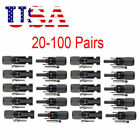 10 20 50 100pcs Waterproof Male Female M F Wire Cable Connector Set Solar Panel