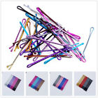 24pcs 5cm Multicolor For Girl Hair Clips Bobby Pins Wavy Hairpins Metal Barrette