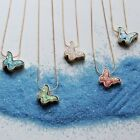 Charm Butterfly Acrylic Pendant Necklace Clavicle Choker Chain Women Jewelry