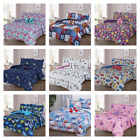 Kyпить BOYS GIRLS TEENS TODDLERS REVERSIBLE PRINTED/SOLID BED COMFORTER AND SHEET SET на еВаy.соm