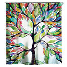 Stylish Printed Bathroom Shower Curtain Set Waterproof Polyester Fabric w/Hooks