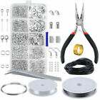 Jewelry Findings Tool Set Open Jump Rings Lobster Clasp Jewelry Making Kit