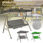 2Pcs/Set Garden Swing Chair Canopy Outdoor Yard Replacement Cover Spare Cover