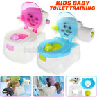 2in1 Baby Children Toilet Trainer Toddler Kid Potty Training Seat Chair Portable image