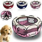 Modern Foldable Pet Exercise Kennel Soft Fabric Dog Run Puppy Playpen Cage UK