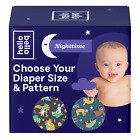 Hello Bello Overnight Club Box Diapers Snoozy Sloths & Sleepy Campers - Size 4