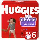 HUGGIES Little Movers Diapers, Size 6, 88 Ct, Huge Pack