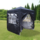 New 2x2m Pop Up Gazebo Marquee Outdoor Garden Party Tent Canopy 4 Side Panels
