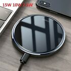 US 15W Fast Qi Wireless Charger Inductive Charging Pad Mat For iPhone 11 8 XS XR