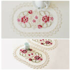 1/4 Pieces Placemats Rose Coaster for Dinging Table Wedding Party Decorative
