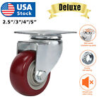 Heavy Duty  3' 4' 5' Inch Caster Wheels Swivel Plate Polyurethane Wheels pack