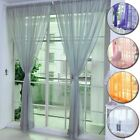 Window Panel Sheer Voile Tulle Curtain Hoom Decoration