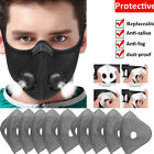 Breathable Breathing Valve Face Mask Washable Activated Carbon Filter Air Purify