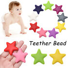 Pacifier Chain Chewable Teether Bead Molar Toy Pentagram Star Silicone Beads